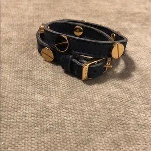 Cc Skye leather wrap bracelet